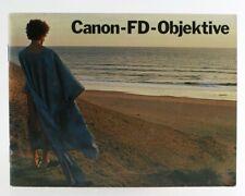 Broschüre Canon-FD-Objektive Zeitschrift