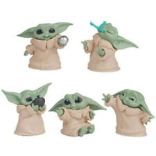 5 Pcs Star War Mandalorian Series Baby Yoda Mini Action Figure Model Cake Topper