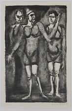 Listed French Artist GEORGES ROUAULT, Signed Numbered Original Lithograph Rare