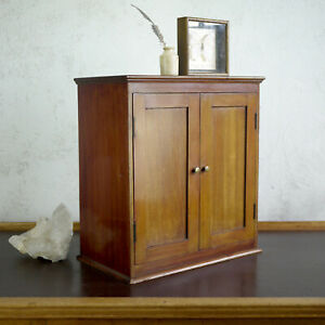 Antique 19th Century Table Top Cupboard Apothecary Smokers Cabinet