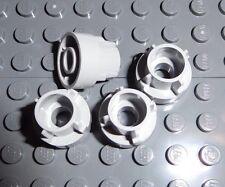 LEGO 4 Light Bluish Gray Technic Driving Ring Extensions