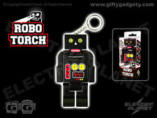 Robo Torch,  Black Robot LED Torch and Keyring, Moving Limbs, Bright White Light