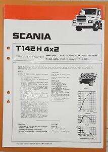 Catalogue / Brochure / Fiche technique  SCANIA T 142  T 4x2