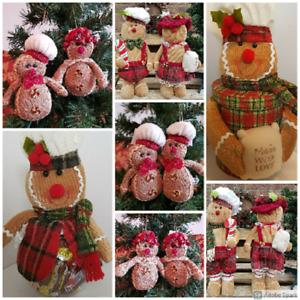 Gingerbread Boy Chef Girl Decoration Gingerbread Sweet Jar / Gift Box Choose