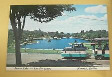 Beaver Lake (Miniature Train / Tram) Montreal Quebec Canada Vintage Postcard New