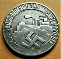 WW2 '35 GERMANY COMMEMORATIVE COLLECTORS COIN REICHSMARK  DIE SAAR 24 mm NSD AP