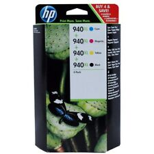 New Genuine 4 Pack Combo HP 940XL Ink Cartridges Officejet Pro 8000 8500