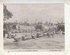 Original Navy Photo LSTs (Landing Ship Tank) LOAD ENGLAND For D-DAY ASSAULT 1592