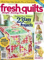 Fresh Quilts Magazine Easy Projects Elegant Pillows Sweet Skirt Sunny Throw 2015