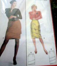 *LOVELY VTG 1980s SKIRT BURDA Sewing Pattern 8-18 UNCUT