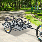 Aosom Steel Frame Bicycle Bike Cargo Trailer Luggage Cart Carrier 110lb Hauler