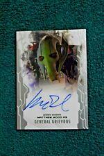 Matthew Wood General Grievous Star Wars Masterwork autograph signed insert card