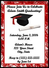 20 Personalized Graduation Party Invitations-Can be designed w/your school color