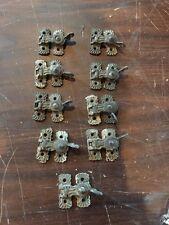Nine Pair Of Brass Antique Window Locks Very Fancy