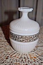 Bonbonnière - sucrier en opaline de foire blanche - Sugar bowl in opaline