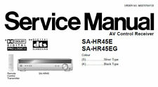 NATIONAL SA-HR45E SA-HR45EG AV CONTROL RECEIVER SERVICE MANUAL BOOK IN ENGLISH