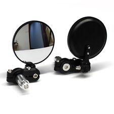"Black Motorcycle 7/8"" Bar Rearview Custom Mirrors Foldable For Cafe Racer Bobber"