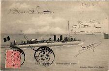 CPA  Saint-Nazaire - Torpilleur quittant le port  (650562)