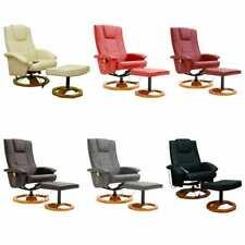 vidaXL Massagesessel mit Fußhocker Relaxsessel Fernsehsessel mehrere Auswahl