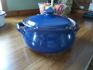 Denby Imperial Blue Lidded Vegetable/Casserole Serving Dish in perfect condition