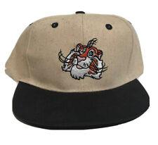 NOS Vintage Exxon Tiger Gas Oil Stitched Logo Snapback Canvas Baseball Hat Cap
