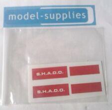 Dinky 351 SHADO Interceptor Reproduction Sticker Set