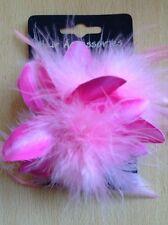 A Pretty Pink Flower Barrette Hair Clip