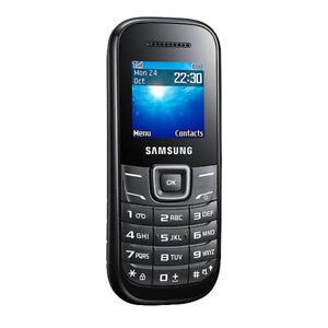 Brand New Samsung Keystone 2 Black GT- E1205Y Unlocked Button Mobile Phone EU