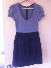 BCBG Grey T Shirt with Layer Skirt Size 0 / UK 6