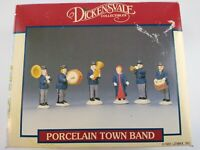 Lemax Dickensvale Collectibles PORCELAIN TOWN BAND set of 6 Christmas Village EC