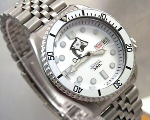 Seiko Silver Shark MarineMaster Day Date Automatic Divers Watch SKX007 7S26-0020