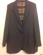 Mango UK Size 12 Large L Oversize Flecked Blazer Elbow Patch Covertible Collar