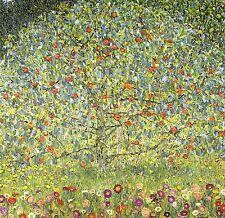 STAMPA SU TELA CANVAS GUSTAV KLIMT APPLE TREES IL MELO CLASSICO MODERNO 90X90