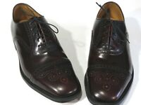 New William Chatsworth Shoes 9.5D Bench Made England Burgundy Medallion Captoe