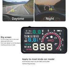 "Easy To Install 5.5"" Car OBD2 Head Up Display Vehicle With Speed Warning System"
