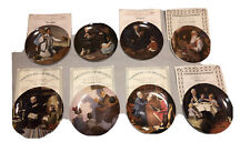 Lot Of 8 Norman Rockwell Heritage Collection Collectors Plates