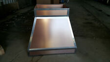 Copper Colored Metal Rivited Square Vent Range Exhaust Hood For Kitchen Island