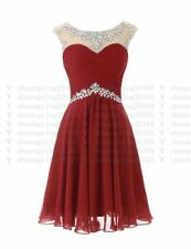 Knee Length Evening Prom Party Dress Ball Gown Cocktail Bridesmaid Dresses 6-18