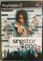SingStar: Pop -- Vol. 2 (Sony PlayStation 2, 2008) new-factory sealed ps2