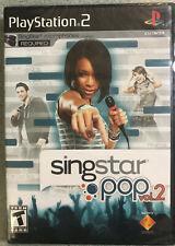 SingStar: Pop -- Vol. 2 (Sony PlayStation 2, 2008) new-factory sealed ps2