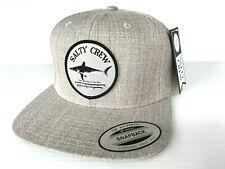 SALTY CREW Cap Bruce 6 Panel Men's Cap Hat Heather Gray One Size Adjust Z10 NWT