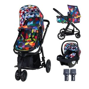 New Cosatto giggle 2 pram in Kaleidoscope with car seat & raincover opened box