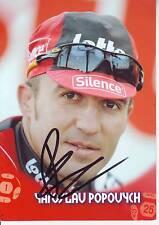 CYCLISME carte cycliste YAROSLAV POPOVYCH équipe SILENCE LOTTO Signée