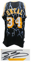 Shaquille O'Neal Signed LA Lakers Mitchell & Ness Black Lightning NBA Jersey- SS