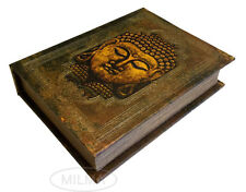 Buddha Book Box Decorative Leather Book Box Storage Secret Book