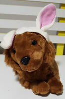 DACHSHUND PUPPY DOG PLUSH TOY! PETER ALEXANDED BUNNY HAT SOFT TOY ABOUT 37CM!