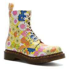 Dr. Martens  Women's 1460  Pascal Yellow Daisy Floral Boots US 7 8 Retail $150!