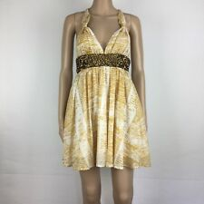 toi et moi Animal Print Sequined Band Babydoll Dress Size 6 NWT RRP $160 (AK19)