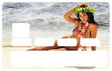 STICKER TAHITI HINANO PLAGE CARTE BANCAIRE CREDIT CARD SKIN AUTOCOLLANT CC032