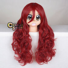 70CM Anime for Batman Poison Ivy Red Curly Long Halloween Party Cosplay Wig+Cap